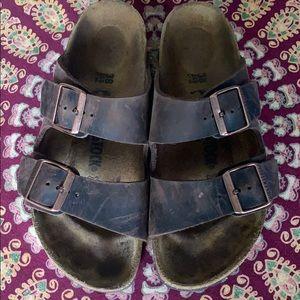 Birkenstock Brown Leather Sandals 38